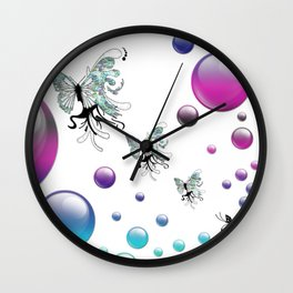 Q The Bokeh Fly Wall Clock