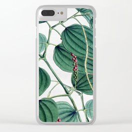 Green leaves I Clear iPhone Case