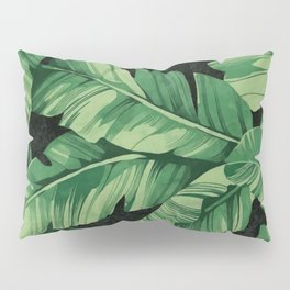 Tropical banana leaves II Pillow Sham