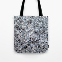mineral Tote Bags featuring Granite mineral by L.A.B.