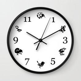 New Zealand Birds Wall Clock