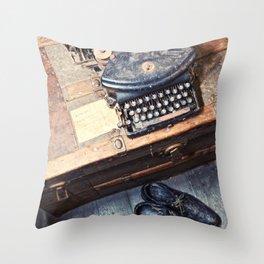 Typewriter Throw Pillow