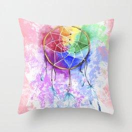 """dreamcatcher """"cotton candy"""" Throw Pillow"""