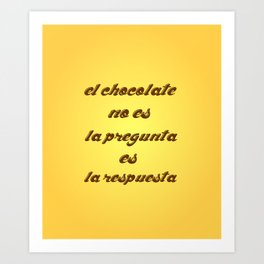 Chocolat in Spanish Art Print
