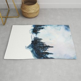 Winter Watercolor Rug