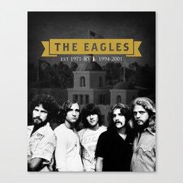 The Eagles Rock Band Hotel Califonia Canvas Print