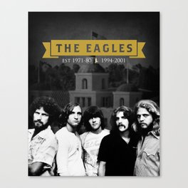 The Eagles Rock Band Hotel Califonia Canvas Print