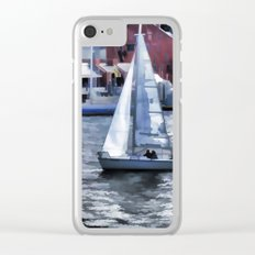 Sail boat Clear iPhone Case