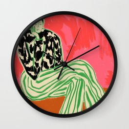 CALM WOMAN PORTRAIT Wall Clock