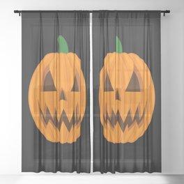 Jack O Lantern Sheer Curtain
