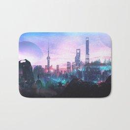 Io Alpha: Scifi City Bath Mat