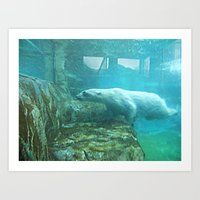 swimming Art Prints featuring Swimming by Serena Gailey