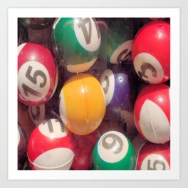 Billiard Balls Art Print