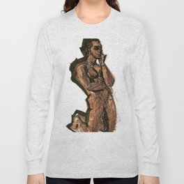 Thoughts That Require Nudity Long Sleeve T-shirt