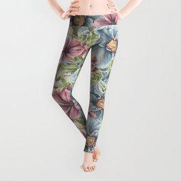 Hibiscus Vintage Pattern Leggings