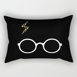 Harry - Black Rectangular Pillow