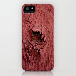Knotty Red iPhone Case