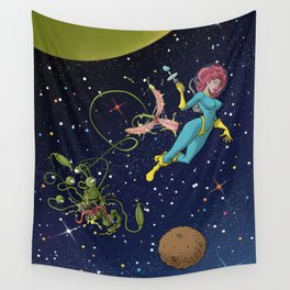 Astro Girl Wall Tapestry