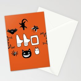 My Neighbour Creatures in Satsuki's dress orange Stationery Cards