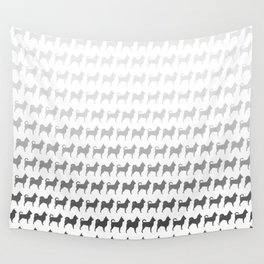 Chihuahua Silhouettes Pattern Wall Tapestry