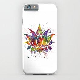 Lotus Flower 2 Watercolor Print Wall Art Wedding Gift Zen decor iPhone Case
