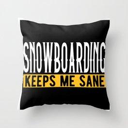 Snowboarding Lovers Gift Idea Design Motif Throw Pillow