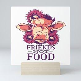 friendship with cows Mini Art Print