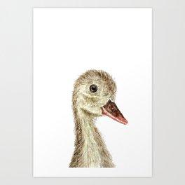 smiling little duck Art Print