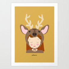Like a deer.. Art Print