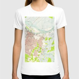 Vintage Map of Savannah Georgia (1955) T-shirt
