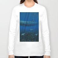 submarine Long Sleeve T-shirts featuring U99 Submarine by Simone Gatterwe
