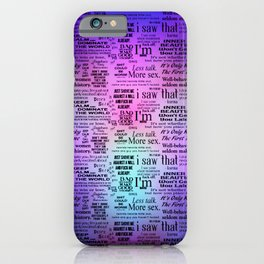 Adult Quotes Montage iPhone Case