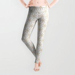 Flower of Life Pattern: Beige Leggings