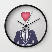 valentine Wall Clocks featuring Mr. Valentine by Davies Babies