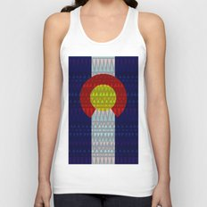 Colorado Flag/Geometric Unisex Tank Top