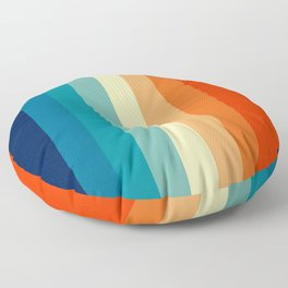 80s Vintage palette Floor Pillow