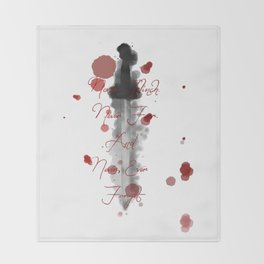 Nevernight (Never Fear) Throw Blanket