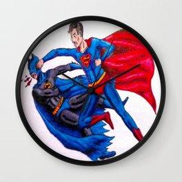 Final Showdown: Superhero Edition Wall Clock