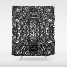 King of the City Black and White Shower Curtain