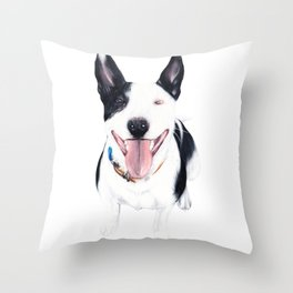 Staffy Luda Throw Pillow