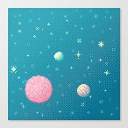 Brain Planet (8bit) Canvas Print