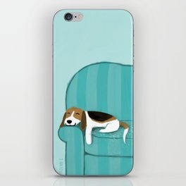 Happy Couch Beagle iPhone Skin