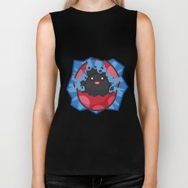 Hatching Tamagotchi (Red) Biker Tank