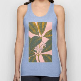 Modern Botanical Banana Leaf Unisex Tank Top