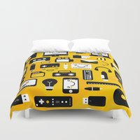 technology Duvet Covers featuring Technology  by adrianperive