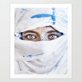 Blue Hijab Art Print