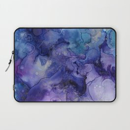 Abstract Watercolor, Ink Prints, Indigo, Blue, Purple Laptop Sleeve