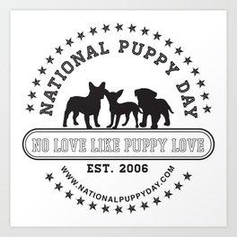 National Puppy Day Art Print