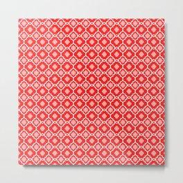 Carmella in Red Metal Print