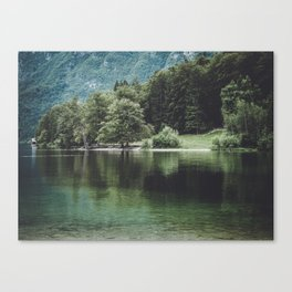 Lake Bohinj in Slovenia, 2 Canvas Print